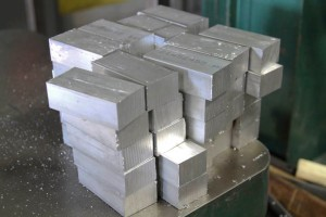 6061 aluminum pieces ready to be machined.