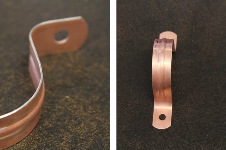 Copper Clad Pipe Strap