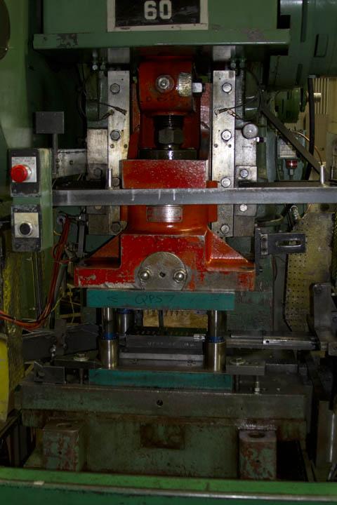 Inside of a C-Frame punch press.
