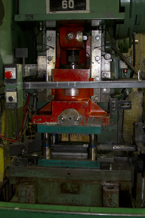 Inside of a C-Frame punch press.
