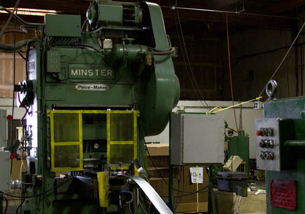 Minster straight side punch press