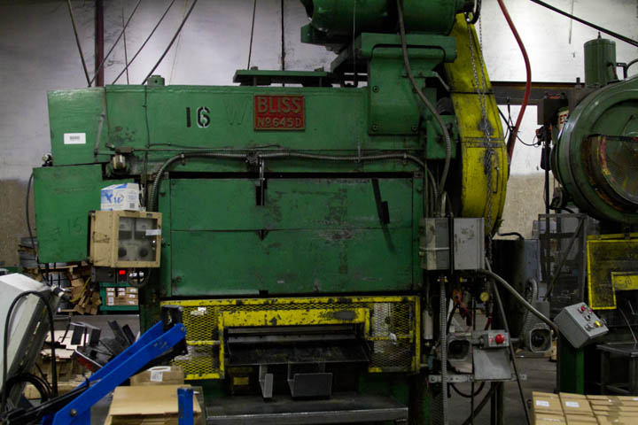 Straight-side punch press.